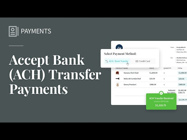 Accept Bank (ACH) Transfers