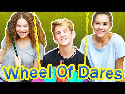 Wheel of Dares! (MattyBRaps vs Gracie & Madison Haschak)