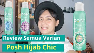 Posh Perfumed Body Spray Hijab Chic | Review Semua Variant | Rizkykorlee Video