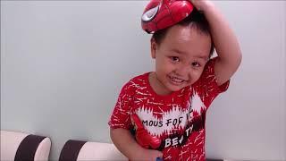 Bé Làm Siêu Nhân Người Nhện. Spider Man. Minh Minh TV