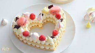 HEART CAKE   Number Cake   Gâteau Cœur