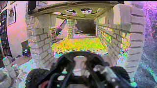 Orlandoo Hunter OH32X01 1/32 4WS Micro Rock Crawler - Fpv indoor course Test #1