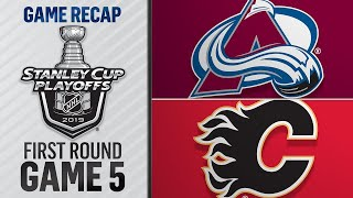 Avalanche win Game 5 to eliminate Flames