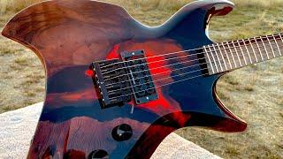 I Built An Epoxy Volcano Guitar