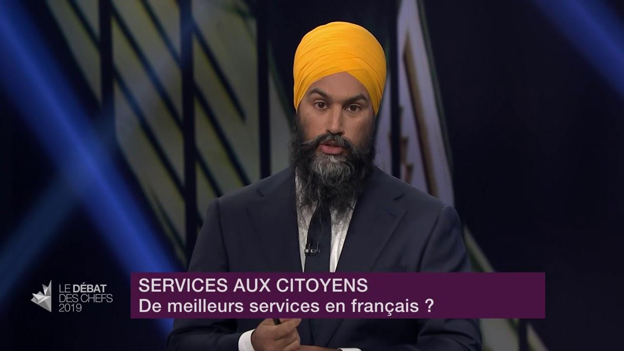 Jagmeet Singh répond à la question d'un citoyen sur les services en français