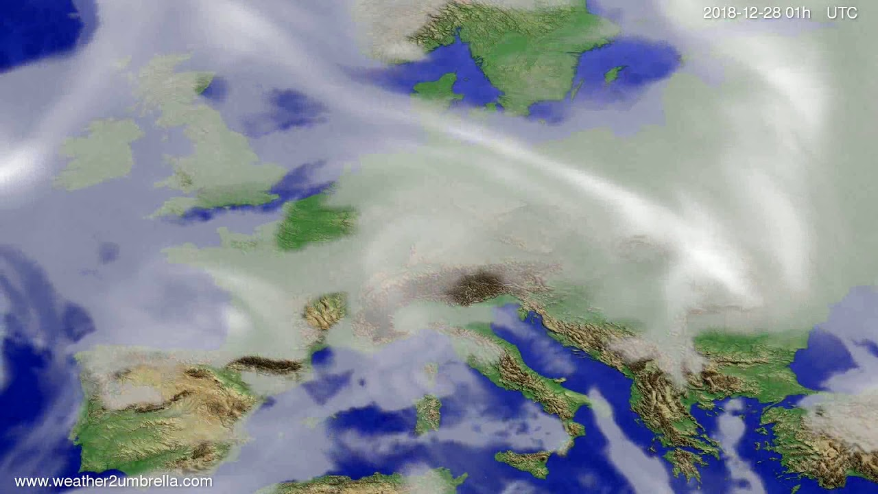 Cloud forecast Europe 2018-12-24