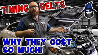 The CAR WIZARD shows why it costs and arm and a leg for a Timing Belt replacement