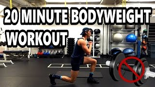 Full 20 Minute Bodyweight Strength Workout [FOR BEGINNERS!] by Training Tall