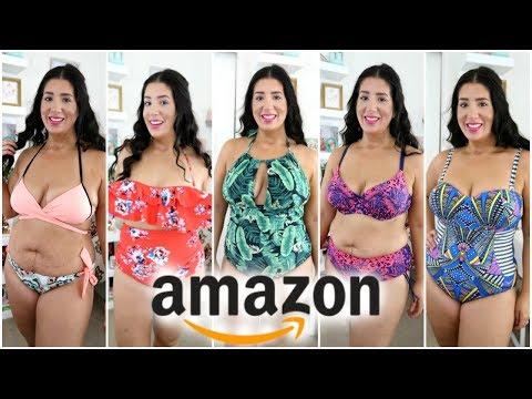 I Bought 7 Amazon SwimSuits | Size 12-14 | Try on Haul