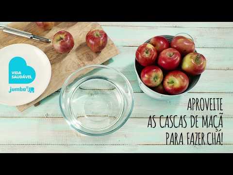 Chá de casca de maçã e canela