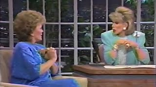 Rue McClanahan interview with Joan Rivers-1987