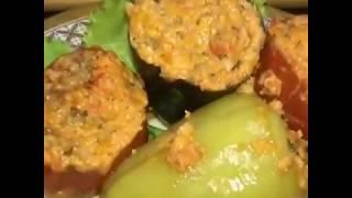 Фаршированные овощи. Фаршированные помидоры и баклажаны. Рецепт в описании.