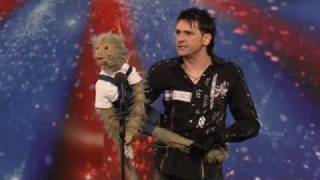 Damon Scott with Monkey (Bubbles).