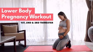 Lower Body Pregnancy Workout | All trimesters approved #WorkoutWithJen
