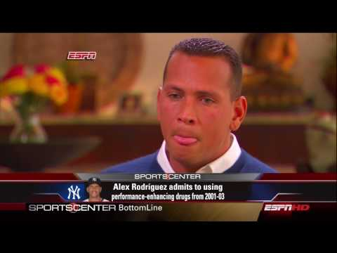 ESPN Sportscenter: Alex Rodriguez Interviewed by Peter Gammons Part 1/4