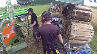 Brennholz sägen / 1 Rm in 6:30 min / Posch Cutmaster / Claas Atos