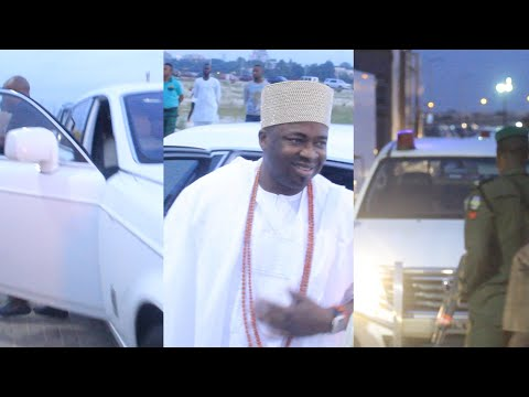 OBA ELEGUSHI CAME OUT WITH HIS NEW ROLLS ROYCE @50TH BIRTHDAY OF BASHIR FAKOREDE CEO ENYO PETROLIUM