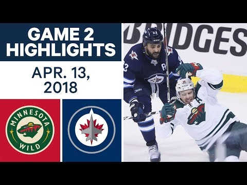 NHL Highlights | Wild vs. Jets, Game 2 - Apr. 13, 2018
