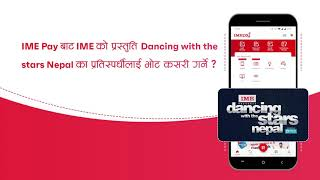 How to Vote on IME presents Dancing with the Stars Nepal via IME Pay