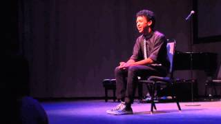 Justice Smith | Spoken Theater, monologue from The Innocent's Crusade | YoungArts LA 2013