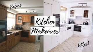 £100 DIY KITCHEN MAKEOVER | NEW KITCHEN ON A BUDGET | HOME RENOVATIONS BEFORE AND AFTER CABINETS