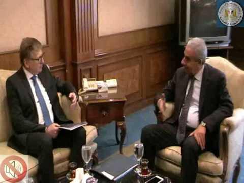 لقاء الوزير/ طارق قابيل مع سفير الاتحاد الاوروبى