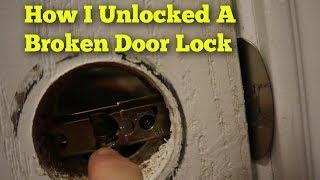 How I Unlocked a Broken Door Lock (NOT a tutorial)