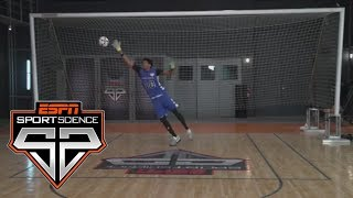 Jarrett Allen Uses His Impressive Hops To Block Kicks | Sport Science | ESPN
