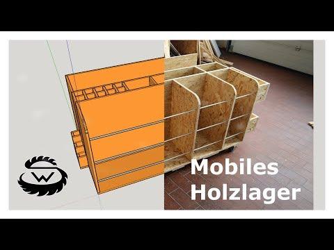 Holzlager selber bauen für die Werkstatt