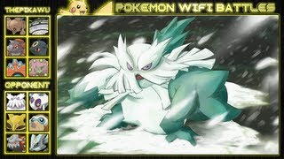 Abomasnow  - (Pokémon) - Abomasnow's Deadly Snow Storm! (Pokemon Black and White OU Wifi Battle)