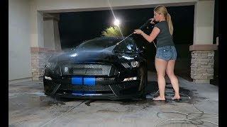 WASHING MY 2018 FORD SHELBY GT350 | FOAM WASH and DETAIL