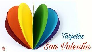 9 TARJETAS FÁCILES Para  SAN VALENTÍN.