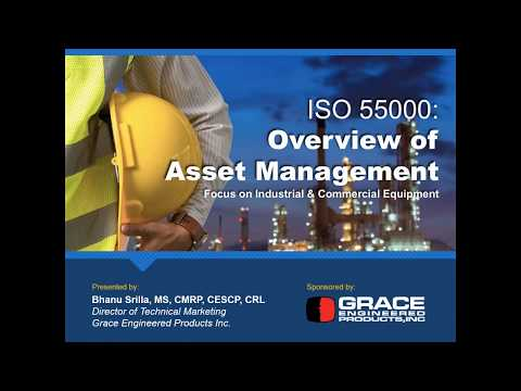 Webinar | ISO 55000: Overview of Asset Management with a focus ...