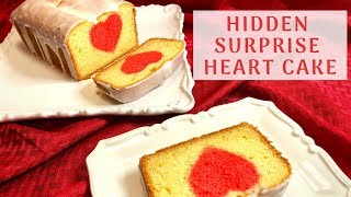 Surprise Hidden HEART Cake For The Valentines Day! ❤️ Vanilla Cake With A Lemon Glaze