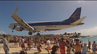 Airplane low pass! St.Maarten, Maho beach