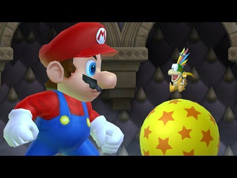 New Super Mario Bros Wii - All Bosses with Giant Mario