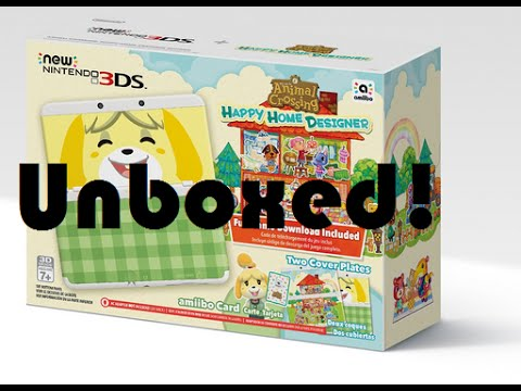 Unboxing the New 3DS - Animal Crossing Happy Home Designer Bundle