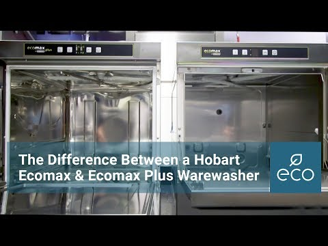 What's the difference between a Hobart Ecomax & Ecomax Plus warewasher