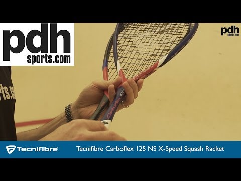 NEW review of Tecnifibre Carboflex X-Speed squash racket range by PDHSports