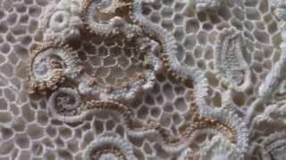 новое ирландское кружево очень красивое вязание белое платье