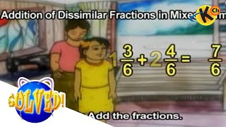 Grade 4 Math | Addition of Dissimilar Fractions in Mixed Forms | Solved