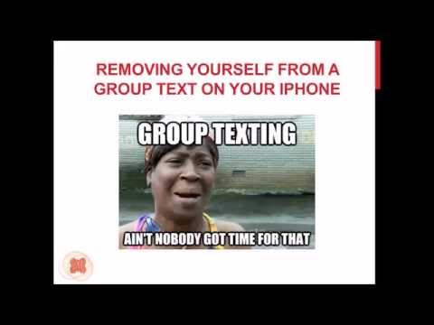 Removing Yourself from a Group Text (iPhone)