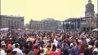 AMLOFEST: Thousands turnout to see Mexico's President in the country's capital