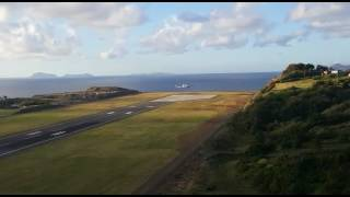 First Airliner to land at the Argyle International Airport, AIA St. Vincent and the Grenadines.