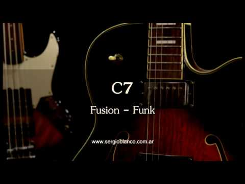 Backing Track Fusion Funk Modal C7 un solo acorde (one chord) guitar jam training