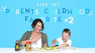 Kids Try Their Parents' Favorite Childhood Foods Part 2 | Kids Try | HiHo Kids
