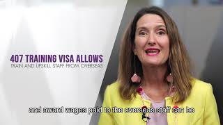 Which visas can provide immigration solutions for staff shortages