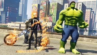 GHOST RIDER vs HULK!!