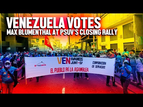 Venezuela's Chavistas hold massive rally for legislative victory in Caracas