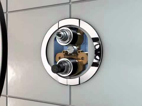 Grohe Grifería - Grohe Rápido T Thermostatic Mixer para baño Ducha con Aquadimmer